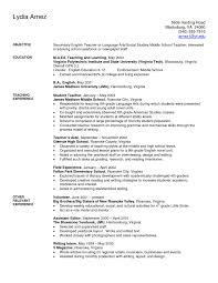 Resume Teacher Resume Cover Letter Templates Sample With