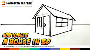 how to draw a house in 3d for kids art for kids easy things to draw mat you