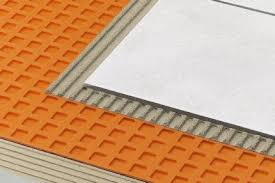 Heated Bathroom Floor Cost Fascinating SchluterDITRA DITRAXL Uncoupling DITRA Membranes