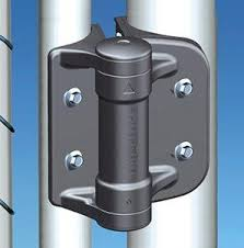 chain link fence gate hinges. Round Post - Adjustable Gate Spring Hinge Black For Gap (5/8\ Chain Link Fence Hinges
