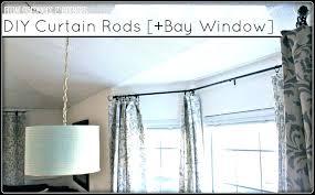curtain rod bay window