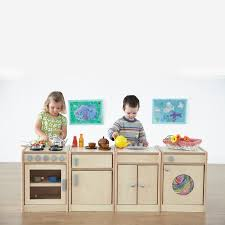 Childrens Wooden Kitchen Furniture Buy Role Play Wooden Kitchen Unit Collection Tts