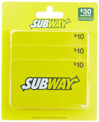 subway gift cards multipack of com gift cards