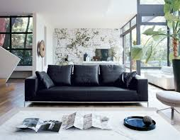 Decorating a Room with Black Leather Sofa - Traba Homes