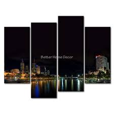 3 piece wall art painting melbourne reflection colorful light picture print on canvas city 4 5 on wall art painting melbourne with 3 piece wall art painting melbourne reflection colorful light