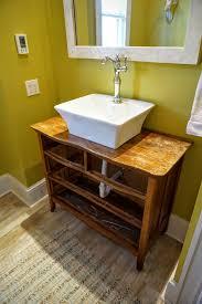 custom bathroom vanity from old dresser whenthebabysleeps com