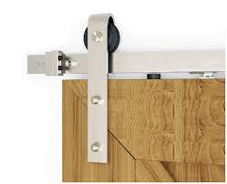 diyhd 5ft 8ft soft closing brushed nickel sliding barn door hardware two side soft