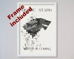 Game Of Thrones Stark House Crest Wooden Plaque House stark print Etsy 45