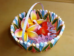 Paper Quilling Rose Flower Basket A Colorful Quilled Gift Basket 15 Steps With Pictures