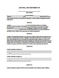 Last Will And Testament Form Free Download Create Edit Print