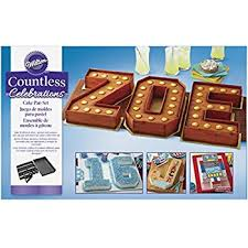 Wilton 2105 0801 Countless Celebrations Set 10 Piece Letter And Number Cake Pan Std