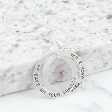 men s large sterling silver interlocking rings necklace