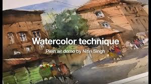 watercolor painting ideas plein air