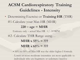acsm cardiorespiratory training guidelines intensity