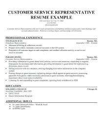 Example Of A Customer Service Resume Awesome Example Customer Service Resumes Resume Examples Customer Service