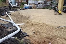 patio drainage issues kg landscape