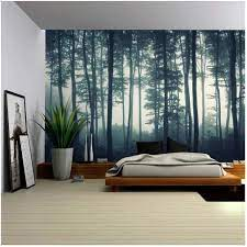 Landscape Mural of a Misty Forest ...
