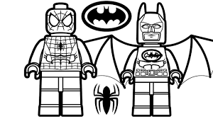 lego spiderman and batman coloring book pages kids for inside sheets