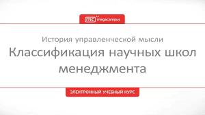 Классификация научных школ менеджмента  02 Классификация научных школ менеджмента