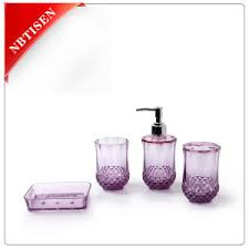 crystal bathroom accessories sets. acrylic/plastic crystal bathroom accessories set (ts8005-4) sets c
