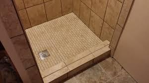tile shower base