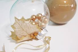 gold holly berry glass ornament