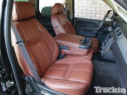 chevy tahoe seat covers 276329 katzkin leather seat covers and heaters truckin