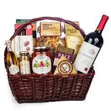 italian evening gift basket wine and chagne gifts by san francisco gift baskets