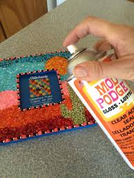 diy mosaic cute picture frame crafts for teens projectscom tile table top diy mosaic