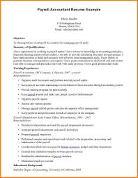 Payroll Accountant Resume Examples Templates Specialist Example