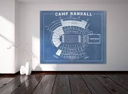 Wisconsin Camp Randall Seating Chart Print Of Vintage Camp Randall Seating Chart Wisconsin By