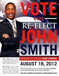 Political Campaign Postcard Template Design Presentation Mailer