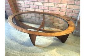 g plan oval coffee table vintage g plan coffee table astro model oval shape glass top