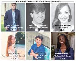 "Mutual Credit Union ar Twitter: ""Congratulations to the following 2018  Mutual Credit Union Scholarship Recipients: Zachary Talley, Glenn Alan  Kittrell, Jr., Alexandra Tzotzolas, Audrey Johnson, Jon Bantugan and Markia  Anderson. For the"