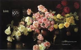 3 roses flower painter joseph decamp