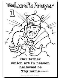 Small Picture Free Lords Prayer Coloring pages for children and parents Free