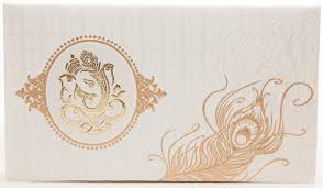 hindu wedding invitations gangcraft net Wedding Invitation Ganesh Pictures hindu wedding card in ivory with ganesha and peacock feather, wedding invitations Ganesh Invitation Blank
