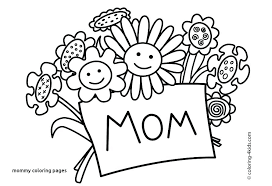 I Love U Mom Coloring Pages You Mommy Printable Betterfor