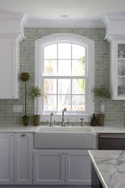 green brick backsplash tiles