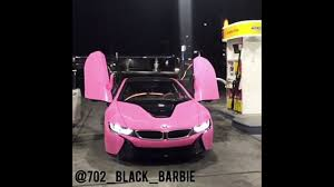 Coupe Series black and pink bmw : Black Barbie Twerking to Niggas in Beemaz in front of BMW i8 - YouTube