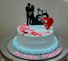 1 Pound Anniversary Theme Kesar Pesta Sweet Sensation Cake