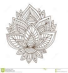 индийский орнамент вектора дизайн татуировки хны страница книжка