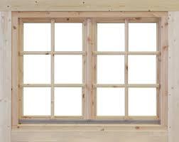 Doppel Fenster Alina Holz Nachrüstelement Für Gartenhäuser