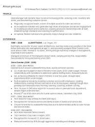store manager job description resume best of retail manager resume