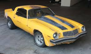 Fans of the transformers movies and the new camaro car can now be driving a bumble bee camaro for real. 1977 Chevy Camaro Bumblebee Car From Transformers Chevrolet Camaro Bumblebee Chevy Camaro Camaro