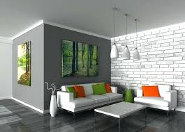 painting walls ideas feature wall living room painted brick marine within plans designs