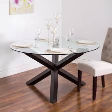 Image Pyrite Ksp Kona Round Glass Dining Table Walnut Tabletop Throughout Modern Ideas Thetastingroomnyccom Ksp Kona Round Glass Dining Table Walnut Tabletop Throughout Modern