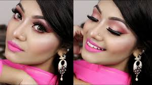 barbie doll inspired pink eid makeup tutorial 2017 eid grwm indian party makeup tutorial
