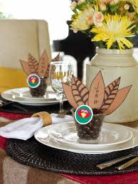 decoration for table. Thanksgiving Place Card And Party Favor Crafts Table Decorations Craft A Special Card: Decoration For