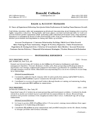 resume objectives sales